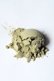 Green cosmetic clay powder Royalty Free Stock Image