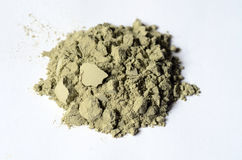 Green cosmetic clay powder Royalty Free Stock Photography