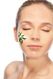 Green cosmetics stock photography