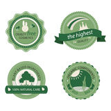 Green cosmetics badges, stickers Stock Image