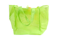A green cotton bag Stock Image