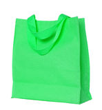 Green cotton bag isolated on white Stock Photo
