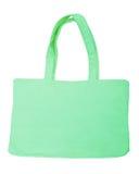 Green cotton bag Stock Photo