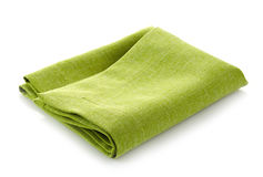 Green cotton napkin Royalty Free Stock Image
