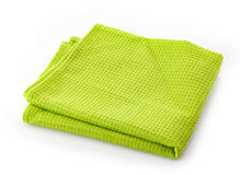 Green cotton napkin Royalty Free Stock Image