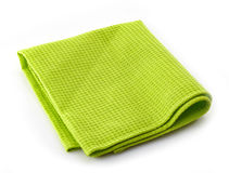 Green cotton napkin Royalty Free Stock Photography