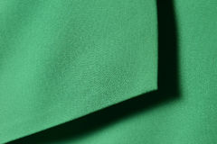 Green cotton  textile with shadow for divided background Stock Photo