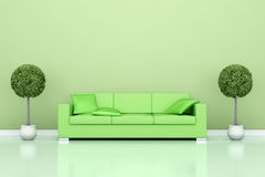 Green couch Royalty Free Stock Image