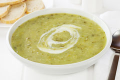 Green Courgette Soup Royalty Free Stock Images
