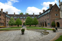 Green Courtyard and Buildings, St Johns College Stock Photos