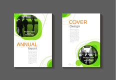 Green cover book  modern Brochure template, design, annual repor Royalty Free Stock Photo