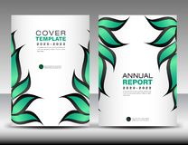 Green Cover design template vector, Nature organic leaves creative idea, Can be use to Business Brochure flyer, Annual Report. Magazine,Poster, Corporate stock illustration