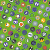 Green cover icons Royalty Free Stock Image
