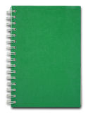 Green Cover Notebook Royalty Free Stock Photo