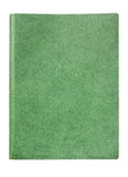 Green cover of notebook Stock Photos