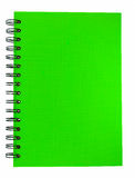 Green cover of notebook Stock Photos