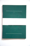 Green cover of notebook Royalty Free Stock Photos