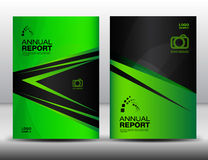 Green Cover template, annual report, business brochure flyer. Magazine cover, template, cover design layout vector, book cover, booklet, advertisement stock illustration