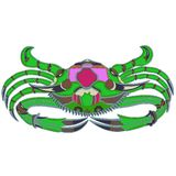 Green crab - a great design element vector illustration