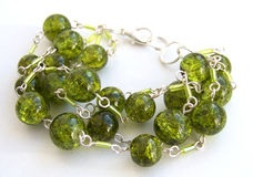 Green cracked bracelet Stock Photography