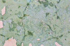 Green cracked concrete vintage old wall background Stock Image