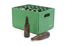 Green crate Stock Photo