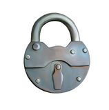Metal Lock, vintage object. padlock. isolated real Royalty Free Stock Photography