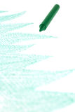 Green crayon Royalty Free Stock Photos