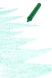 Green crayon Royalty Free Stock Photos