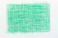 Green crayon drawings background texture Royalty Free Stock Images