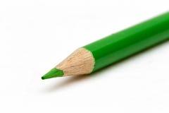 Green Crayon Stock Photo