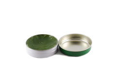 The green cream open cap Royalty Free Stock Images