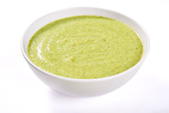 Green cream soup Royalty Free Stock Photo