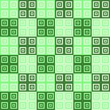 Green and cream and white squares inside squares cube pattern background. Green and cream squares inside squares cube pattern background wallpaper Stock Photography