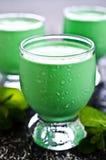 Green creamy liquid Stock Photos
