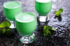 Green creamy liquid Royalty Free Stock Photo