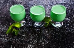 Green creamy liquid Royalty Free Stock Image