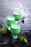 Green creamy liquid Stock Images
