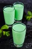 Green creamy liquid Stock Photography