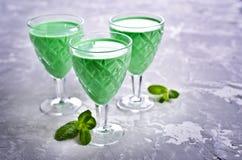 Green creamy liquid Royalty Free Stock Photography