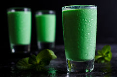 Green creamy liquid Royalty Free Stock Images