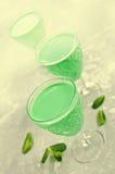 Green creamy liquid Stock Photo
