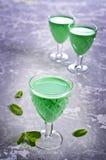Green creamy liquid Stock Image