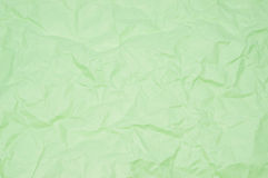 Green creased paper Stock Images