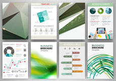 Green creative backgrounds and abstract concept infographics Stock Photo