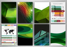 Green creative backgrounds and abstract concept vector icons Stock Image