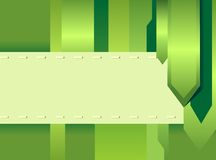 Green creative card Stock Images