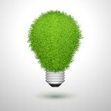 Green creative lightbulb isolated Stock Photos