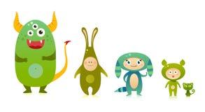Green creatures Stock Photos