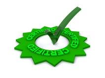 Green credentials certified Stock Photos
